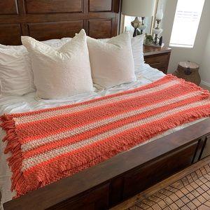 Bedding - Fall Handmade Multicolor AFGAN Lrg Crochet Blanket